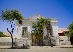 Old Colonial House, Namibe Town, Angola (Eric Lafforgue) Tags: africa house building horizontal architecture exterior colonial bluesky nopeople portuguese colorphoto angola southernafrica namibe         namibetown ango00780