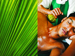 ayurvedic massage - india (Emmanuel Catteau photography) Tags: travel portrait india holiday green face photographer natural reporter kerala national journey massage planet conde medicine lonely geo spa geographic nast traveler ayurveda ayurvedic catteau wwwemmanuelcatteaucom