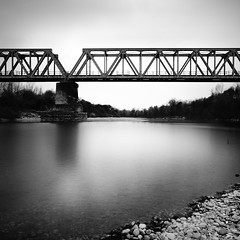 (i k o) Tags: bridge blackandwhite bw water river footbridge sony fiume experiment highcontrast evil bn ponte explore pancake alpha 16mm acqua biancoenero isonzo f63 sagrado altocontrasto 1500sec mirrorless longexposureeffect 35shots nex3