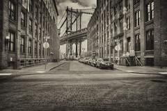 Manhattan Bridge circa 1900s (Gene Krasko Photography) Tags: bridge usa newyork brooklyn dumbo bridges manhattanbridge onceuponatimeinamerica newyorkbridges dumbobrooklyn newyorkarchitecture nikon24mmf28 blackandwhitenewyorkcity nikond700 newyorkinblackandwhite