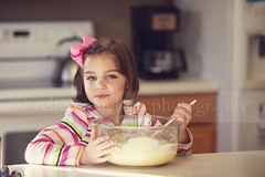 (Rebecca812) Tags: portrait food cute kitchen girl fun happy kid child sweet stripes daughter bowl help stir bake learn countertop prepare batter brownhair smle hairbow homeinterior canon5dmarkii rebecca812