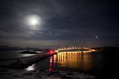 Bridge to Sommary (dataichi) Tags: travel snow tourism nature norway night canon long exposure north destination canon5d northern nord norvge