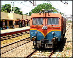 OHE Tower Wagon Passing With diesel Power (Sriram_Express) Tags: tower wagon machine express chennai ohe plasser sapthagiri wds4b vilivakkam expxress