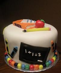 School Cake by Kristie M of Birthday Cakes 4 Free, San Antonio, TX.