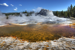 Natures Fountain (dbushue) Tags: steam minerals wyoming geyser bacteria thermal hotsprings ynp vapors 2010 castlegeyser coth uppergeyserbasin supershot naturesgarden yellowstonenationapark absolutelystunningscapes damniwishidtakenthat coth5 dailynaturetnc12