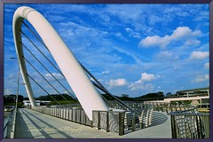 Punggol Waterway Crescent Bridge {Explore} (Eustaquio Santimano) Tags: new bridge by for town singapore walk environmental grand crescent american punggol manmade prize academy waterway engineers excellence aaee my borderfx waterwaypunggol veniceofsingapore