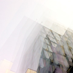 Dagens foto - 216: Up In The Sky (petertandlund) Tags: city windows sky color building silhouette architecture square sweden stockholm doubleexposure oasis 365 sthlm 08 multiexposure norrmalm 216365