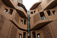 Masdar City (Maarten Roggeman) Tags: city energy united uae emirates arab carbon abu dhabi zero planned مدينة masdar مصدر‎