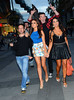 Nadia Forde, David Coffey, Carol Anthony The cast of TV3's Celebrity Salon arrive at Harry's Bar to film Karaoke scenes at the Stephens Green venue Dublin, Ireland