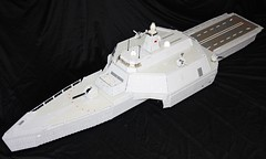 HMS Neptune forward overview (Babalas Shipyards) Tags: ship lego military navy destroyer future stealth frigate corvette warship trimaran moc