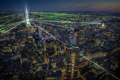 Illustration: London's The Shard to open with laser light show