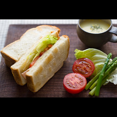(Masahiro Makino) Tags: japan photoshop canon tomato eos kyoto adobe asparagus   f18 sandwiches lightroom   ef50mm cornpotage  60d  20120704133646canoneos60dls640p soldatgettyimagesseptember2012
