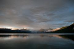 Glacier National Park - McDonald Lake Sunset (Amicus Telemarkorum) Tags: sunset summer sky usa lake mountains water clouds montana shadows glacier northamerica glaciernationalpark 2012 apgar mcdonaldlake