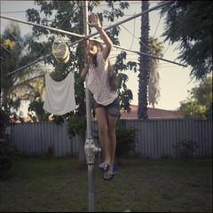 Sarita in the backyard again (Rinto Sulong) Tags: camera light 120 6x6 tlr film analog lens reflex backyard fuji natural scanner iii twin 1954 epson medium format 100 asa reala sarita xenar rolleicord f35 75mm c41 v500