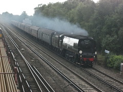 34076 Tangmere @ Worting Jct 19 07 2012 011 (Dave C1) Tags: coast cathedrals dorset express basingstoke tangmere jct 34076 worting