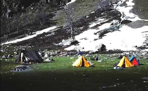 Camp at base of Lidderwat Mountain, Kashmir