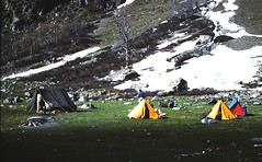 Camp at base of Lidderwat Mountain, Kashmir (Arthur Chapman) Tags: camping india trekking kashmir himalayanmountains lidderwatmountain