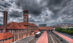 Union Station (Thad Roan - Bridgepix) Tags: railroad bridge building station architecture oregon train portland historic depot unionstation hdr facebook redbrick d800 201205