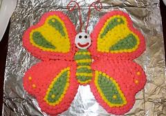 Butterfly Cake by Tami P, Beloit, KS, www.birthdaycakes4free.com