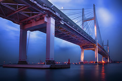 YOKOHAMA BAY BRIDGE (ajpscs) Tags: longexposure nightphotography japan night japanese tokyo nikon nightshot  nippon  yokohama    d300  yokohamabaybridge  ajpscs   mygearandme