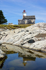 houses red lighthouse canada reflection station rock buildings concrete island harbour sony free weathered lantern dennis jarvis loyalist carvings shelburne iamcanadian mcnutts freepicture dennisjarvis archer10 dennisgjarvis nex7 18200diiiivc caperoseway