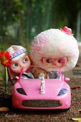 off to rainbow creek (launshae) Tags: car barbie valentine blythe tassels launshae