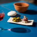 Glass of rosé wine, some olives, a piece of sausage... All yhou need for l'apéritif!