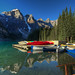 Canoes on Lake Moraine