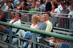 Guy with Mom and Cody at PNC Park (Guy Fisher) Tags: travel family guy sports mom pittsburgh baseball pennsylvania wheelchair cody pncpark pittsburghpirates disability dad