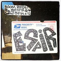 ESPIR 'Room Raider' (billy craven) Tags: chicago graffiti sticker usps handstyles slaptag label228 espir uploaded:by=instagram qfk