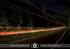 Lorrie Under Bridge (xyzphotography) Tags: england night dark photography unitedkingdom britain leicester sl lonely losted slowshutterspeed noctural