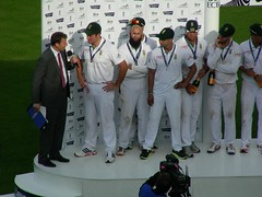 Day 5: Victors' interviews (ramograph) Tags: england southafrica cricket lords testmatch graemesmith michaelatherton markboucher dscn9046
