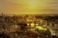 Art in Florence (PhotoArt Images) Tags: sunset italy florence explore tuscany photoart tuscansunset florencesunset photoartimages bestevergold