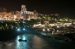 Biarritz Night (N+C Photo) Tags: world life city travel urban holiday france history tourism church water architecture night port boats photography ancient nikon europa europe catholic earth culture eu engineering structure atlantic seawall christian adventure explore viajes future getty civilization turismo basque vacaciones mundo learn biarritz basquecountry global gettyimages discover aventura tierra d300 stmartinschurch bayofbiscay descubrimiento 2470f28 pyrnesatlantiques flickrcollection traveladventure urbansuburban gettyimagescom gettycollection aquitaineregion labourd