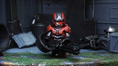 The Enforcer ([N]atsty) Tags: red industry lego 4 halo warrior minifig bungie spartan minigun 343 minifigure the brickwarrior