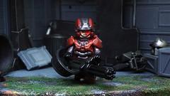 The Enforcer ([N]atsty) Tags: red industry lego 4 halo warrior minifig bungie spartan minigun 343 minifigure the brickwarrior