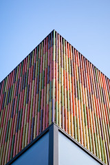 neat colors.. (itawtitaw) Tags: wood morning blue light sky abstract color building lines architecture facade corner munich colorful pattern bluesky symmetry line sharp clear tiles edge shape minimalist divided museumofcontemporaryart fassade brandhorst canoneos5dii canon2470mm28ii