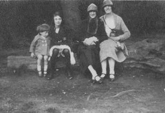 Portrait of Two Ladies a Girl and a child 1920's (Bury Gardener) Tags: 1920s bw vintage oldies