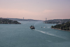 wait (black jem) Tags: city bridge sea asia europe ship istanbul bosphorus megapolis
