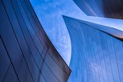 Steel Waves (mikalo79) Tags: blue sky metal architecture modern losangeles steel
