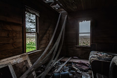 Must Clean Up Your Room! (KPortin) Tags: windows abandoned clothing bed bedroom abandonedhouse filthy disarray adamscounty collapsing