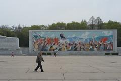Mosaque  ct de l'Arc de triomphe de Kim Il-sung (jonathanung@ymail.com) Tags: lumix asia propaganda korea asie arcdetriomphe kp archoftriumph nord northkorea mosaque pyongyang core dprk propagande cm1 koryo kimilsung coredunord insidenorthkorea rpubliquepopulairedmocratiquedecore rpdc lumixcm1