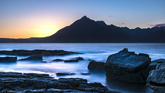 Elgol (ldemierre) Tags: longexposure sunset mountain skye see rocks waterfront scottland elgol