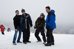just goofing around (brianficker) Tags: chris usa jay brian wv skiresort westvirginia craig snowshoemountain