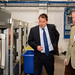 Conor alongside Managing Director, Matthew Baker, during his tour of Barkers.