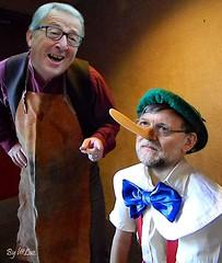 Pinocchio (Spanish Version) (laluzdivinadetusojos) Tags: spain europe jean claude pinocchio mariano rajoy crisis lier juncker