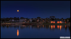 Moon Rise over Port Austin (Chinmay Avachat Photography) Tags: camera copyright usa moon lake art water beautiful mi composition america port canon lens landscape boats island photography rebel harbor us flickr moments michigan unitedstatesofamerica detroit creative commons best na explore cap american moonrise shore northamerica dslr huron allrightsreserved clearwater photooftheday picoftheday portaustin 700d flickriver t5i 1855stm chinmayavachatphotography