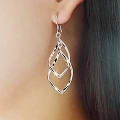 Silver Spiral Earrings (SilverMoonBay) Tags: silver shine sale sparkle trendy earrings shimmer opensky trendyjewelry discountjewelry affordablejewelry jewelrysales jewelryforless jewelrydeals