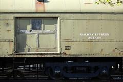 BAGGAGE ,CNJ 498 . (feijoosolocanon) Tags: blue green colors yellow wagon newjersey rail baggage libertystatepark railwayexpressagency