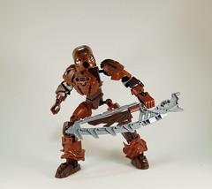 Toa Lindt, Master of Chocolate (0nuku) Tags: brown lego chocolate sword g2 bionicle toa 2015